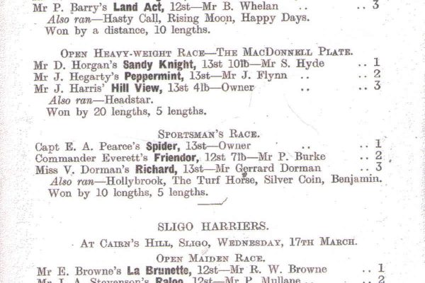 Image of South Union Foxhounds runners and riders 1948 page 2