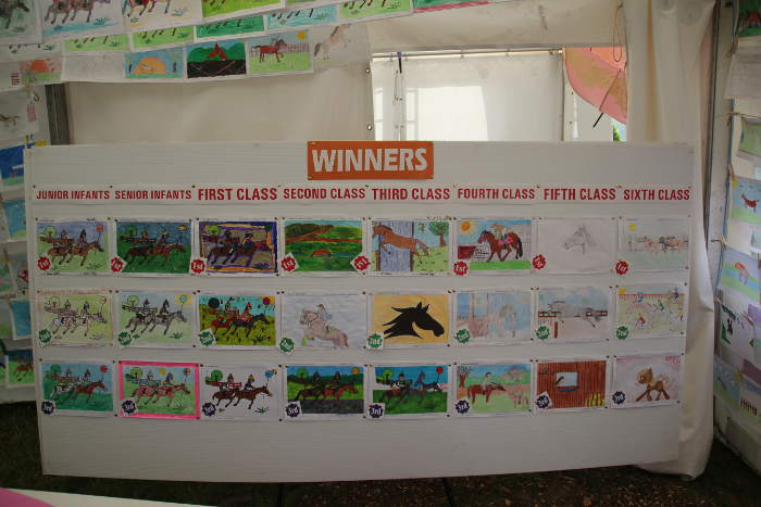 Photograph of winners of Kinsale Point to Point races art competition